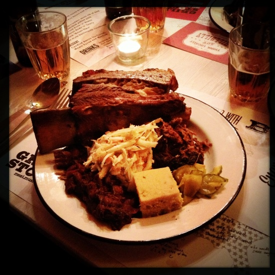 A huge plate of meat